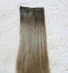 Натуральные славянские волосы на заколках 54 см
