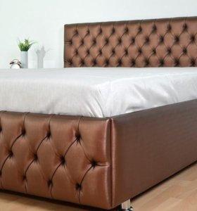 Кровать с подъёмным механизмом и ящиком