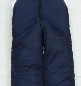 Теплые брюки на лямках