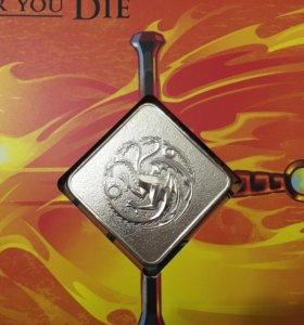 Набор Game of Trones монета, марки Таргариен