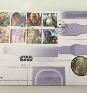 Набор Star Wars монета, марки R2D2