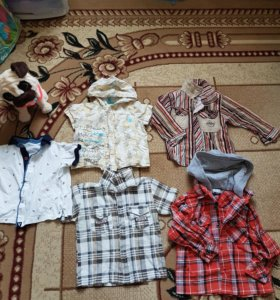 Рубашки на мальчика 1-2,5 года