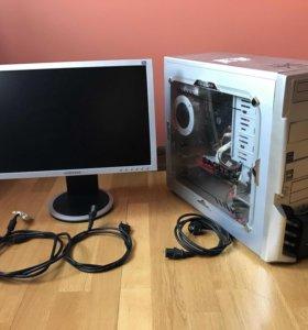 Системный блок AMD Athlon-64 X2 4400 + монитор