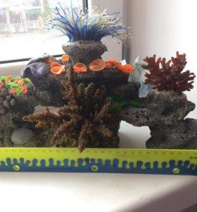 Продам декорации большой аквариум