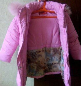 Куртка зимняя детская удлиненная