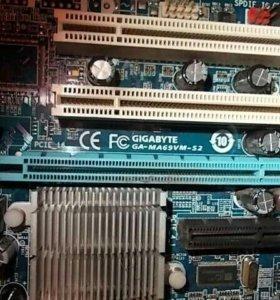 Материнская плата с оперативной памет и процессор