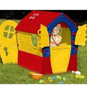 Детский пластиковый домик лилипут! Новый !!!