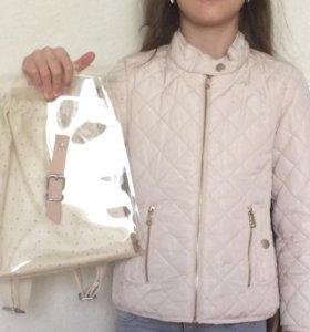 Легкая куртка 116 +рюкзак Zara