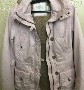 Парка куртка h&m пудрового цвета