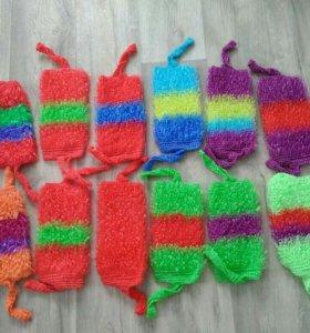 Мочалки ручной вязки