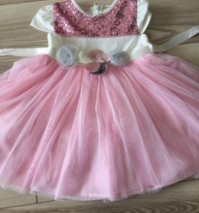Платье  и пальто для вашей малышки на годик