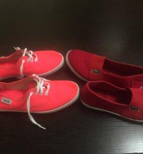 Кеды мокасины лакост обувь