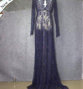 Будуарное платье фиолет