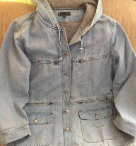 Парка джинсовая 50-54 размера