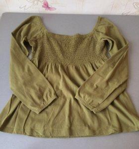 Блузка рубашка для беременных из Европы хлопок