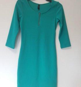 Бирюзовое платье,новое.