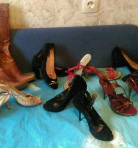 Натуральные кожаные туфли и босоножки
