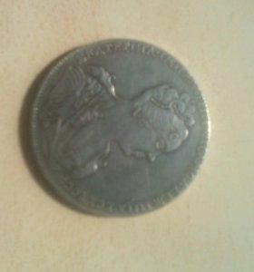 Монеты серебрённые 4шт