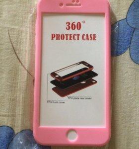 Женский двусторонний чехол на iPhone 7 Plus