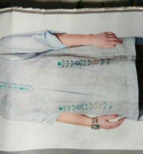Туника(блузка) льняная р.54 НОВАЯ