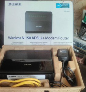 D-link DSL-2640U Wireless N 150 ADSL2+modem Router