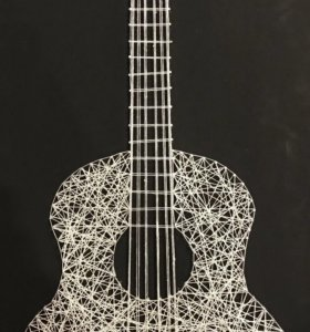 Картина в стиле string-art