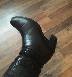 Женские зимние кожаные ботинки 38 размера