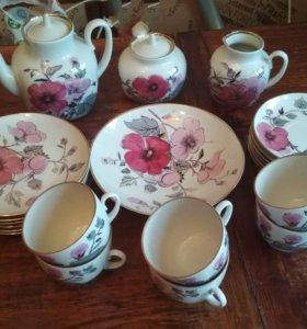 Сервиз чайный розовая ветка лфз