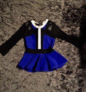Блуза из бандажной ткани размер S