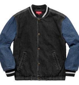 Supreme Denim Varsity Jacket