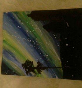 Картина без рамки рисовал на А 3