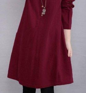 Платье рубашка р 50-54
