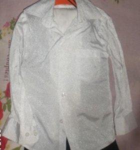 Праздничная белая рубашка 98-104