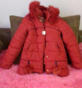 Куртка зимняя девочке 8-10 лет