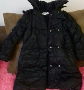 Зимнее пальто девочке 5-7 лет