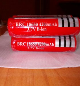 Аккумуляторы Li-ion3.7V BRC18650 4200mAh(Новые)
