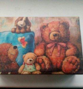 шкатулочка ручной работы Медвежата