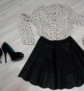 Блузка,юбка и туфли