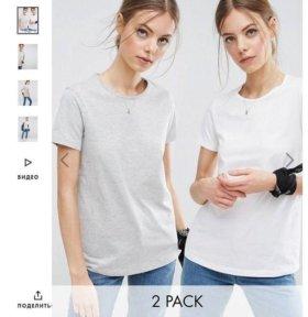 Набор из 2 базовых футболок ASOS