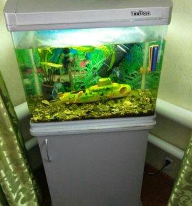 Срочно продам аквариум на 90 литров
