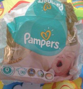 Подгузники Pampers premium care 0 пазмер
