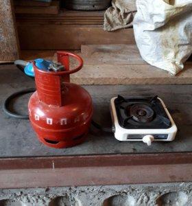 Газовая и электрическая плитки.