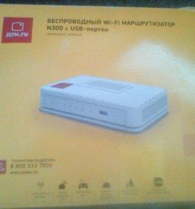 Wi-Fi роутер и цифровая приставка Дом ру