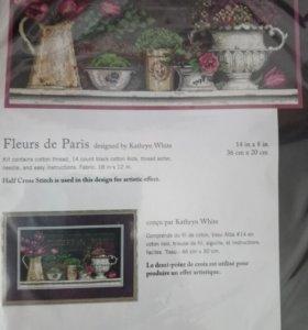 """Вышивка """"Цветы Парижа"""" фирма Dimension"""