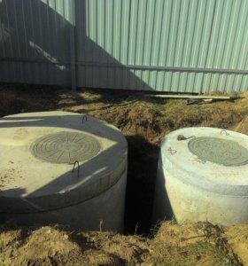 Монтаж канализации, септиков, выгребных ям!