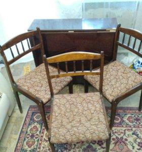 Стол книжка и стулья