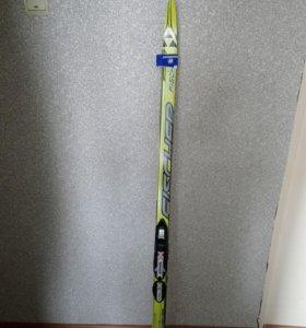 Лыжи Fischer детские, с креплениями, палками