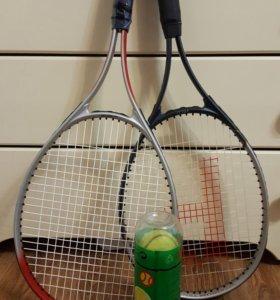 Теннисные ракетки 2 шт. + мячи