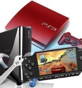 Ремонт игровых приставок XBOX, Sony Playstation