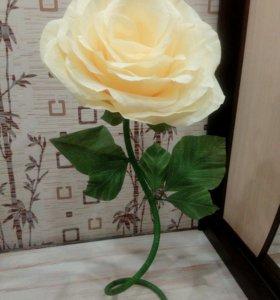Роза из гофр.бумаги